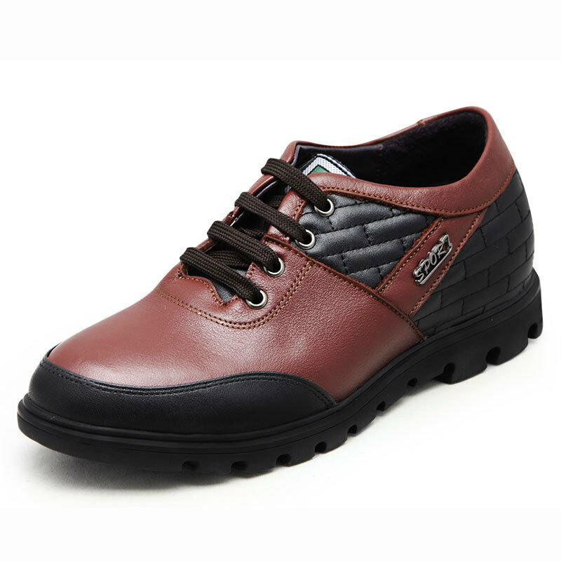 TC-030 Leather Casual 2.6  Height Help Elevator shoes To Get  Extra Taller-JOTA