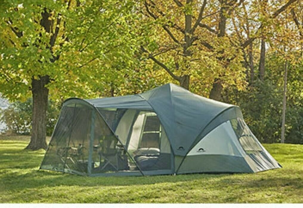Outdoor Spirit 19x17 9-Person Tent with Screen Room - Green NEW
