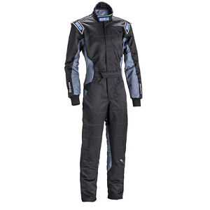 Go-Kart-Sparco-Kart-Suit-KS-5-Black-Grey-Large-NEW