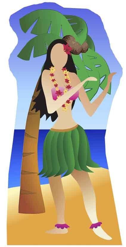 Hula Girl stand-in Beach Beach Beach Party Ritaglio di cartone 4e3c07