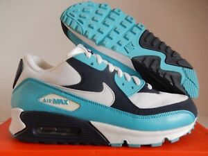 buy popular 87dbc 5da09 Image is loading NIKE-AIR-MAX-90-WHITE-CHLORINE-BLUE-NAVY-