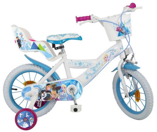 Kinderfahrrad Disney Frozen 14 Zoll Fahrrad mit Puppensitz und Korb B-Ware