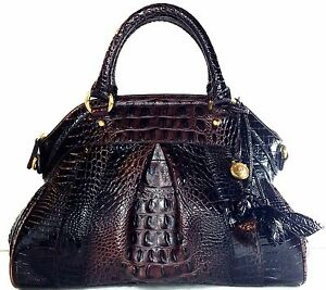 b13235b9d Image is loading BRAHMIN-LOUISE-ROSE-COCOA-SATCHEL-BROWN-SHADES-DILLARD-