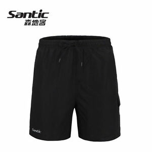 SANTIC-Mens-Padded-Baggy-Cycling-Shorts-Casual-Bike-Bicycle-Short-Pants-Black