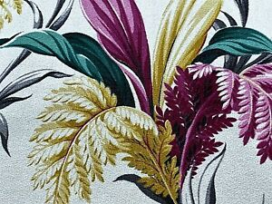 SALE-Tropical-Miami-Explosion-Barkcloth-Vintage-Fabric-Drape-Curtain-1930-039-s-DIY