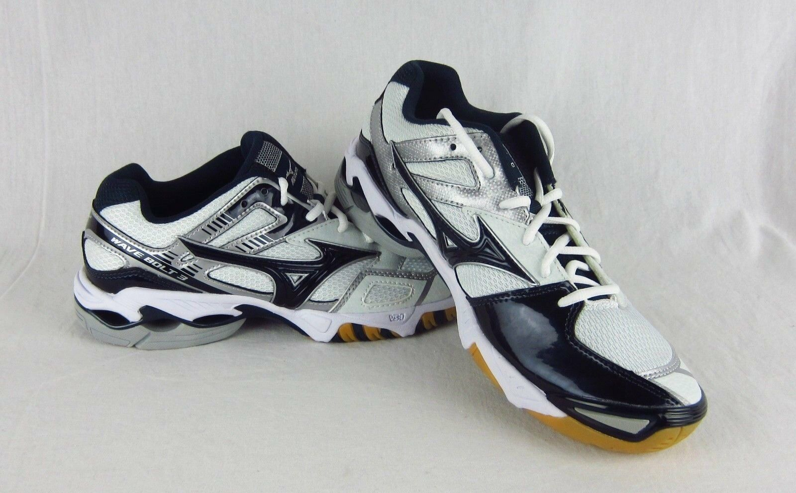 New Womens Mizuno Wave Bolt 3 Volleyball shoes Sneaker Navy White