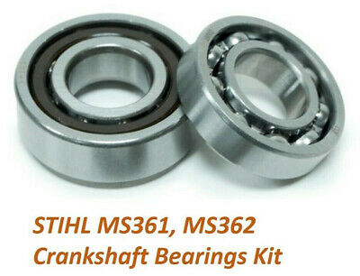 FLYWHEEL + CLUTCH CRANKSHAFT BEARING SET FOR STIHL MS361 MS362 CHAINSAW