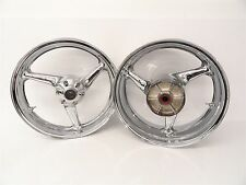 00 01 Honda CBR 929 929RR used Front Rear Chrome Rim Wheel Wheels Set *Bent*