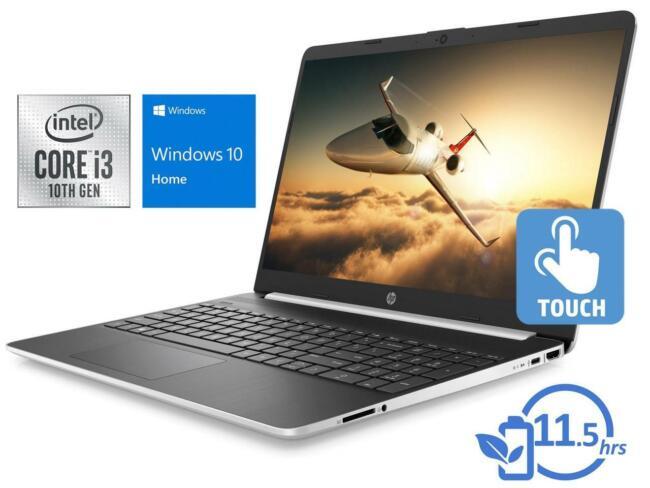NEW HP 15.6 Touchscreen HD Intel i3-1005G1 3.4GHz 128GB SSD 8GB RAM