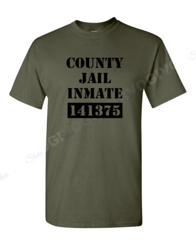 County Jail Inmate T Shirt Halloween Costume Tee Prison Funny T-shirt S-XXXL