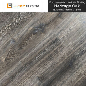 Laminate Flooring 12mm Heritage Oak Floating Timber Floor Floorboard Floors Diy Ebay