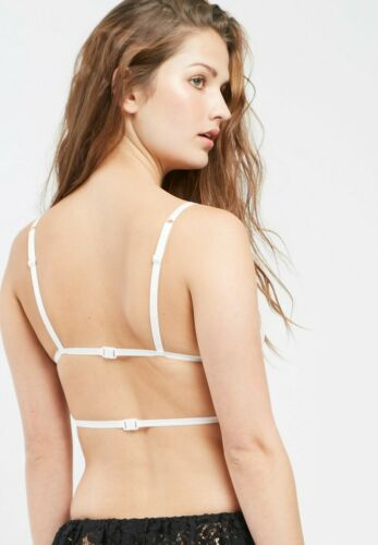 Missguided Bra strappy lace triangle UK 4 8 10 14 16 burgundy white