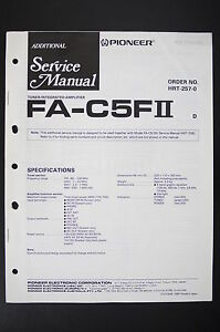 Pioneer Fa-c5ii Amplifier Original Additional Service-manual/schaltplan O102 Tv, Video & Audio