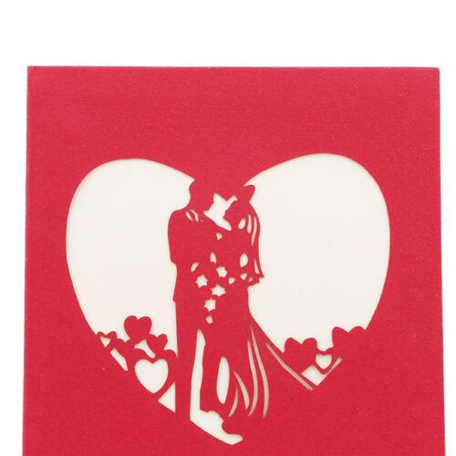 3D Card Birthday Wedding Valentine Anniversary Greeting Cards Invitations FM