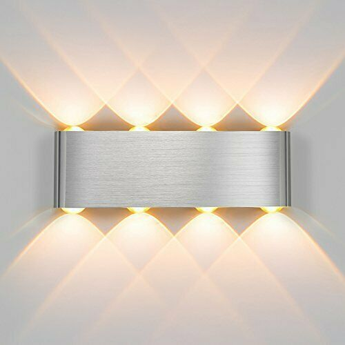 8w Led Wall Lights Up Down Outdoor Indoor Room Lamp Sconce Light Lamp Uk Stock Ebay