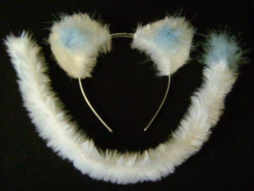 White//Blue Snow Leopard//Cat//Polar Bear//Lion Ears /& Tail