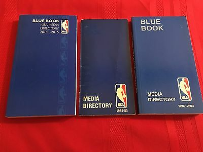 NBA Media Directory Blue Book lot / 1984-85 / 2002-03 / 2014-15 / Hearn / Most