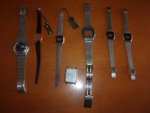 piuttosto bella c0c4e 615f7 Details about Cinturini e casse orologi vintage residuo di magazzino Casio  Timex Orient
