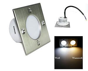 LED-Einbaustrahler-Bodenstrahler-Ray-230V-1-5W-IP54-Treppen-Kalt-amp-Warmlicht