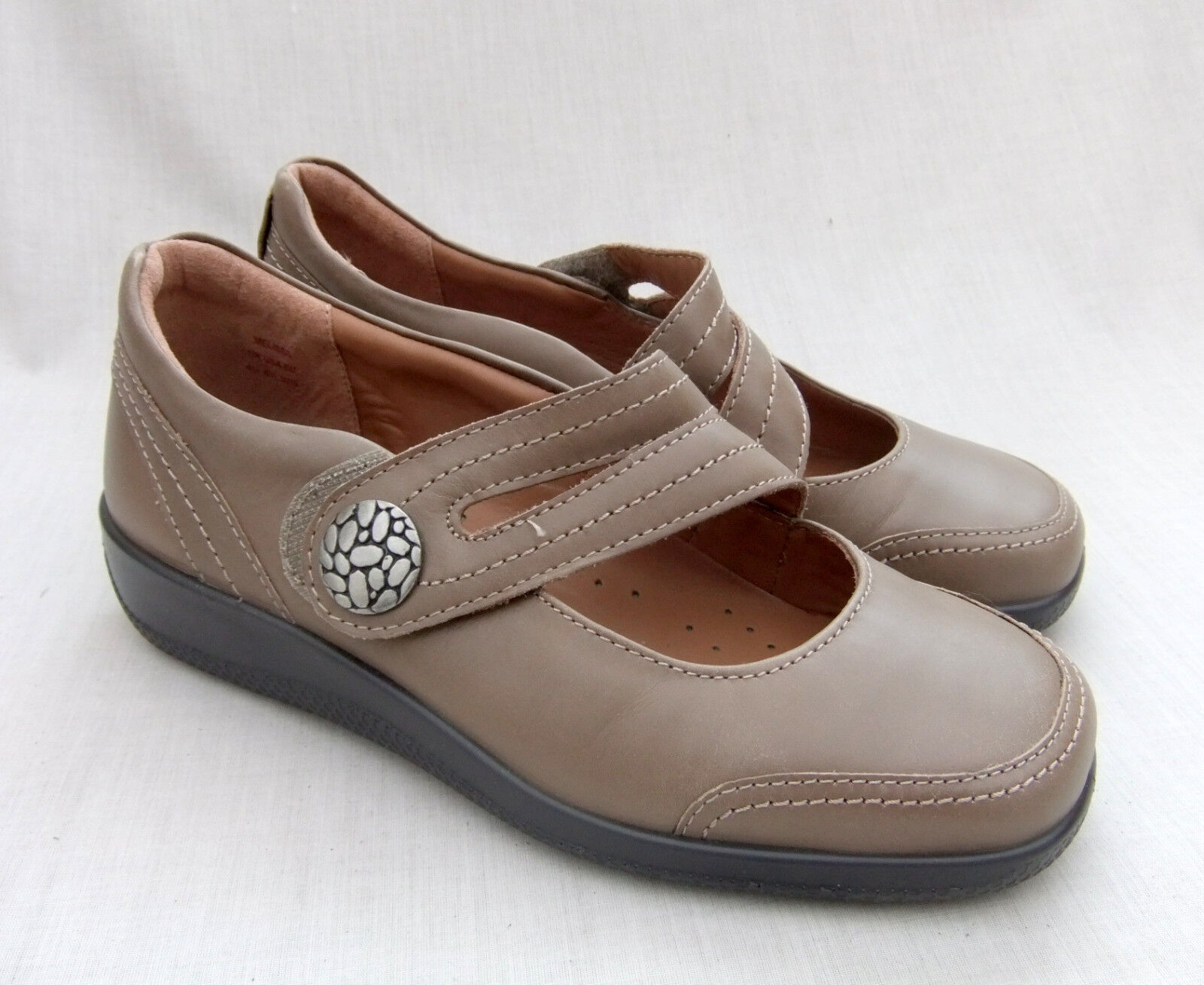 NEW HOTTER MELISSA femmes TAUPE LEATHER chaussures Taille 4.5   37.5 STD