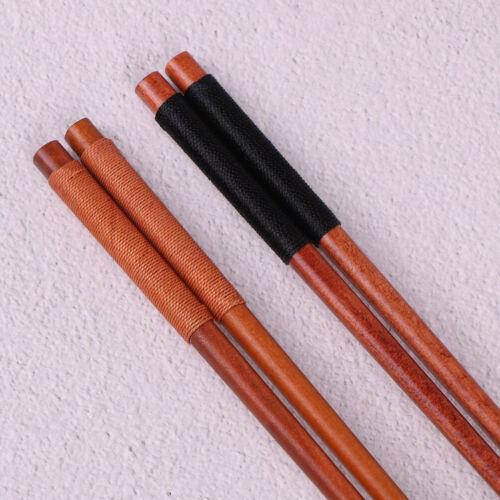 1 Paar wiederverwendbare japanische Essstäbchen aus natürlichem Kastanienhol Nq