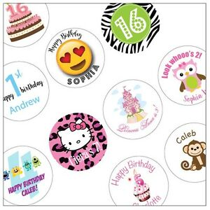 Details About 30 Birthday Personalized Stickers You Pick Design