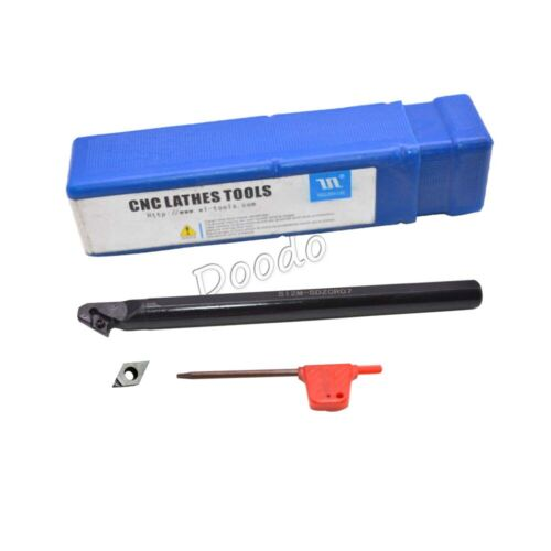 12x150mm 1*S12M-SDZCR07 Lathe Turning Tool Boring Bar Holder+1*DCGT070204 PCD