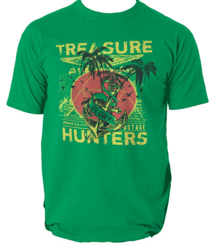 Treasure hunters t shirt pirate beach sailing s-3xl