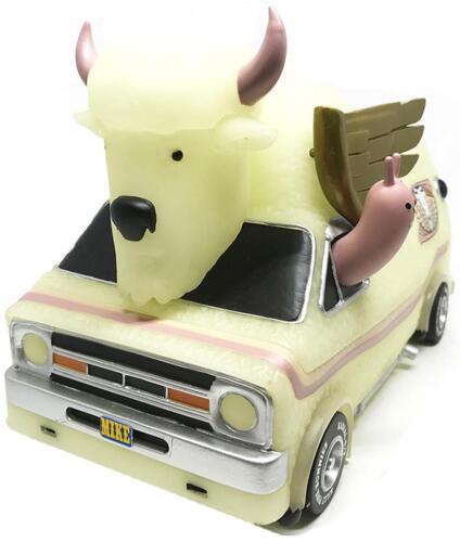 Bison Van GID EDIZIONE Figura in vinile veicolo di Jeremy FISH x 3 dretro
