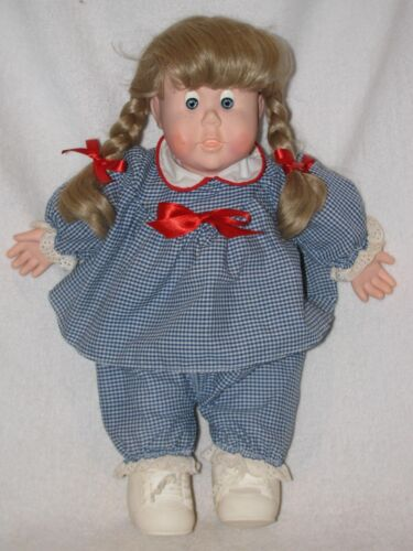 "17"" Hide A Baby Doll By Monarch Toy CO. 1986"