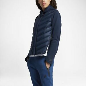 cd3cb1912bde Women s Nike Tech Fleece Aeroloft Bomber Down Jacket Coat 804982-423 ...