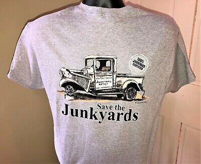 Save the Junkyards T-Shirt Sport Grey Vintage Old Hot Rodder Flathead Guys Tee