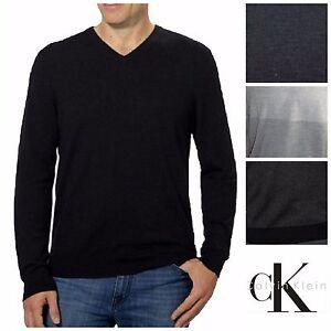7177a3045c90 NEW Calvin Klein Men s Merino Wool V-Neck Sweater FREE SHIPPING H35 ...