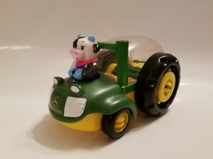 John Deere Baby Toy Farm Tractor Combine Pop Up Rattle Plastic By