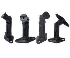 Black 4 Universal Wall / Ceiling Satellite Speaker Mounts Brackets Fit Bose Bs4
