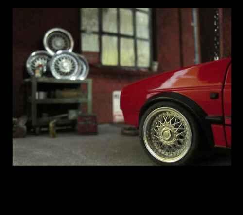 BBS llanta alufelge metal motivaran para tuning transformación coche modelo decorativas accesorios 1//18