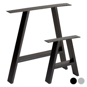 Hartleys-Set-of-2-Industrial-Metal-A-Frame-Table-Legs-Dining-Bench-Office-Desk