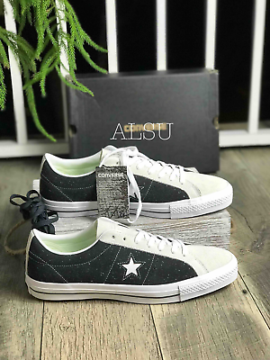 Sneakers Mens Converse One Star Pro OX Black White Suede Low Top 155526C | eBay