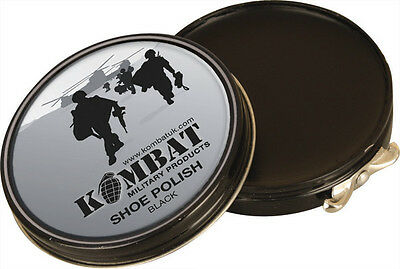 MILITARY PUNCH BOOT / SHOE CARE POLISH BLACK ARMY