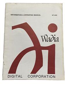 Wadia Wt-3200 User Manual