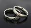 Coppia-anello-Fedi-Fedine-Fidanzamento-Cuore-Spezzato-acciaio-incisioni-charms miniatura 4
