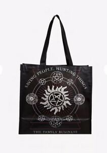 Supernatural Family Business Reusable Tote Bag Symbols