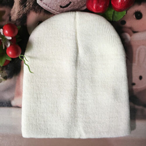 Baby Warm Plain Skull Cap Beanie Candy Solid Color Knit Wool Crochet Slouch Hats