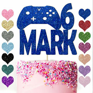 Personalised-Cake-Topper-Party-Gamer-Controller-Gaming-Console-Birthday-Floss