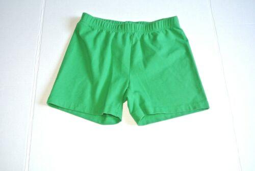 Hanna Andersson Bright Basics Tumble Shorts Green 150 12