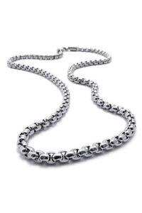 Schmuck-Herren-Kette-Edelstahl-Halskette-Silber-Breite-5mm-Laenge-55cm-M5-D2