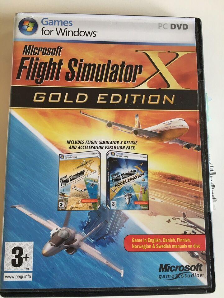 Flight simulator Gold edition, til pc, simulation