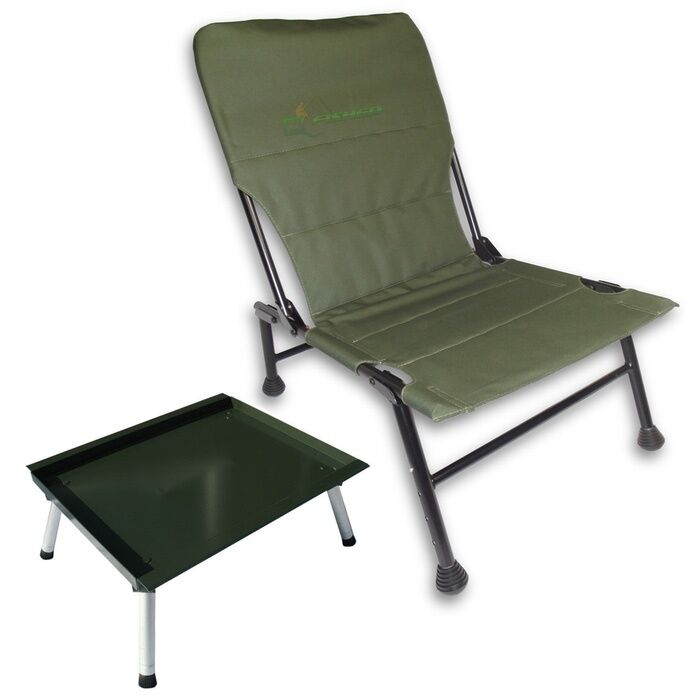 Carp Fishing Chair With Extendable Front Legs + Large Ali Adjustable Bivvy Table