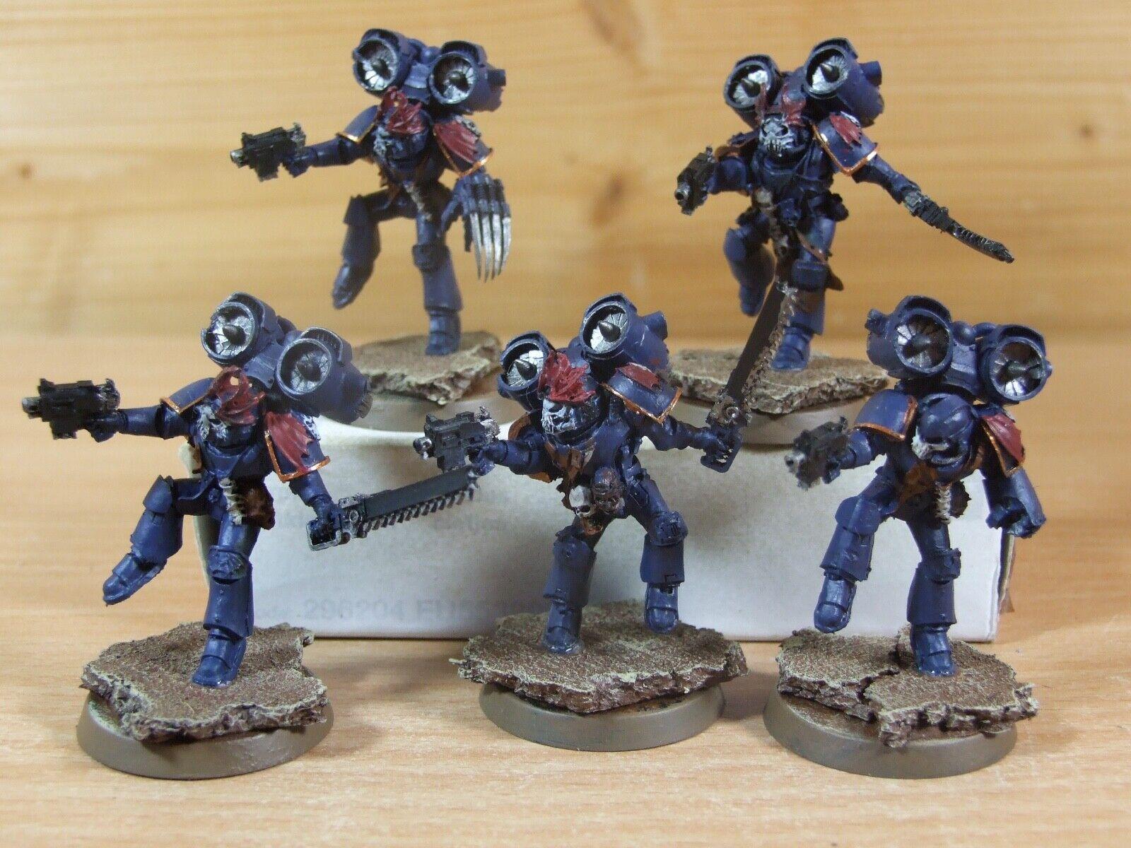 5 Forgeworld Warhammer noche señores Raptors bien pintados (L-1413)