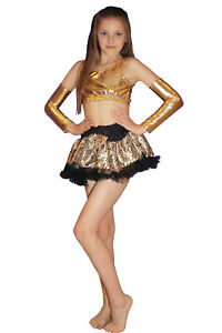 Girls-Leopard-Printed-Tutu-Skirt-5-10-Years-Childrens-Fancy-Dress-Party-Costume